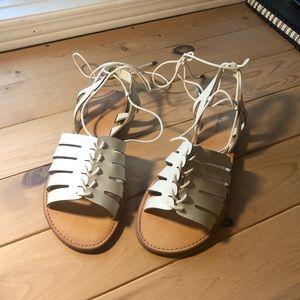 Indigo Rd. White Baku Tie-Up Gladiator Sandal